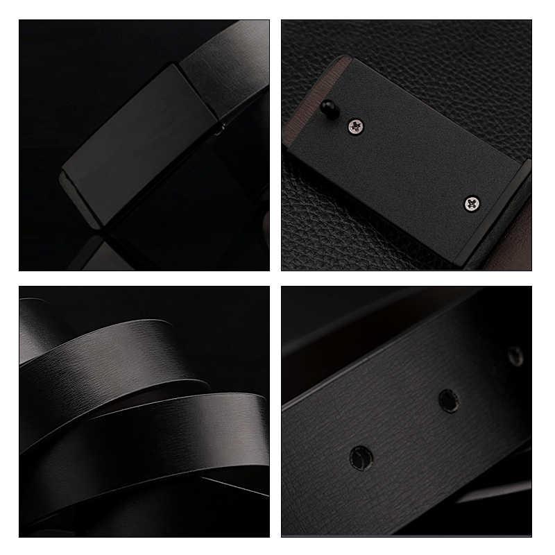 Maikun Cinture per Gli Uomini di Alta Qualità Liscia Fibbia In Pelle Sintetica Cintura Maschile Alla Moda Degli Uomini Della Cinghia per I Jeans