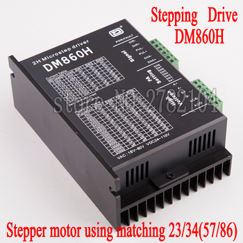 Free shipping Stepper motor driver cintroller DM860H microstep motor brushless DC motor shell for 57 86 stepper motor Nema23 34