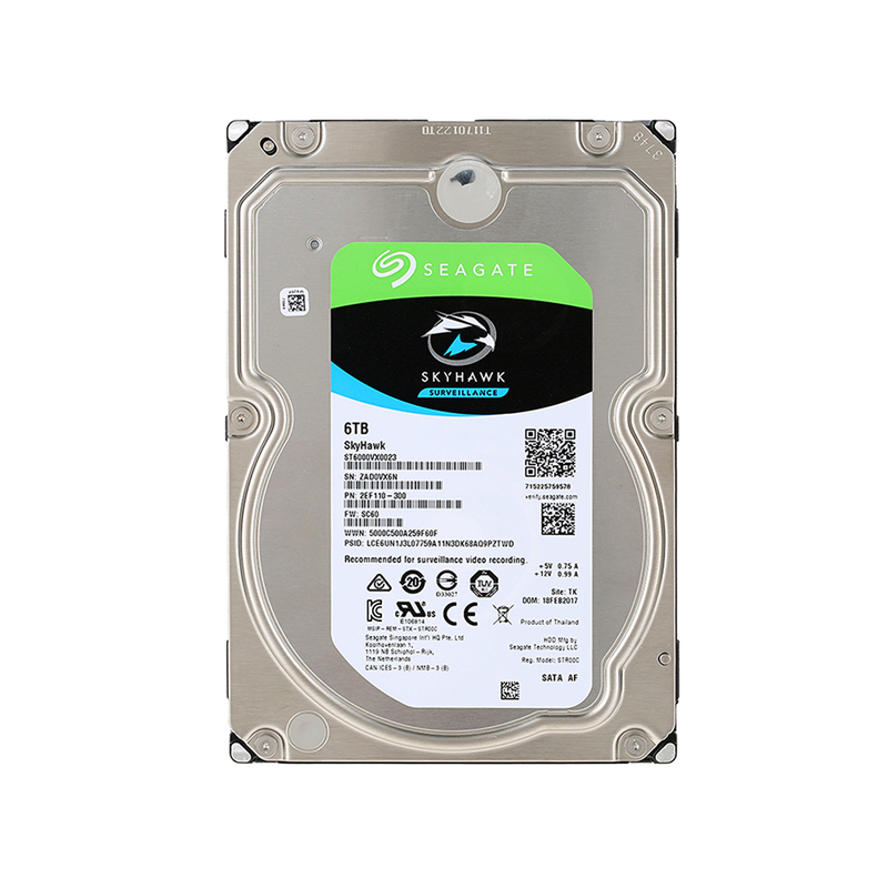 Seagate 6TB Video Surveillance HDD Internal Hard Disk Drive 7200RPM SATA 6Gb/s 3.5inch 256MB Cache HDD For Security ST6000VX0023 4tb video surveillance hdd internal hard disk drive 7200 rpm sata 3 5 64mb cache for dvr nvr cctv camera free shipping