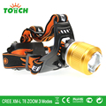 Zoomable led headlights 3800LM CREE XML T6 LED Head lamp power rechargeable Head Flashlight lamps for 18650 battery