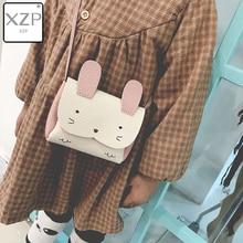 XZP Fashion Cute Rabbit Ears Small Girls Messenger Bag Cartoon Mini Designer Children Crossbody Bag Women Shoulder Kids Handbag