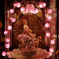 5m LED String Fairy Lights 20pcs Pink Rattan Balls Christmas Lights Luces De Navidad Decorativas Villa Wedding Party Decorations