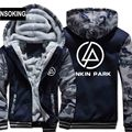 H0030 New Winter Warm LINKIN PARK  Hoodies Rock Band Hooded Coat Thick Zipper men cardigan Jacket Sweatshirt