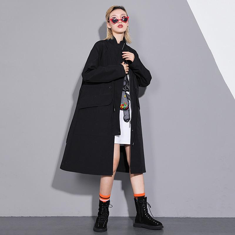 A Giacca Black Perdere Del Delle Manica Della Vento Estate Modo 2019 Basamento Di Nero Donne Stile Collare Nuovo Modello Molla Lunga ZUBRTzq