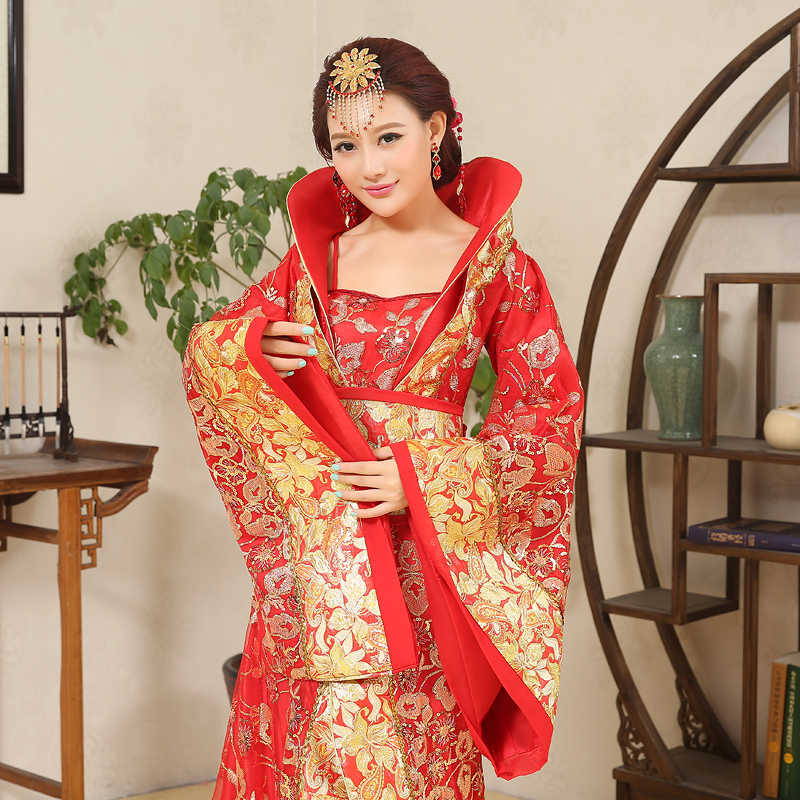 Китайская династия Хань династии корт платье в народном стиле Женщины Древний Infanta костюм Peri театральный драгггл-хвост платье высокого качества