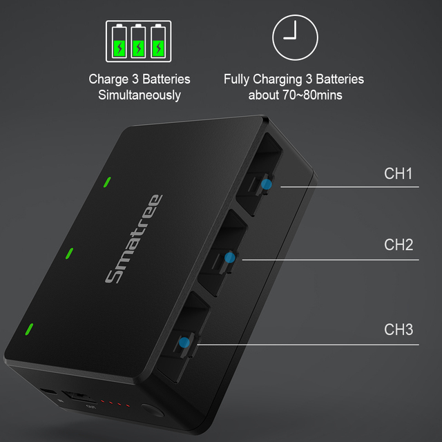 Battery Charger for DJI Tello Quadcop Portable Battery