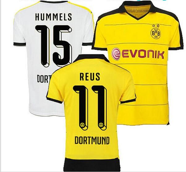 Top Thai REUS Germany FC Borussia Dortmund soccer jersey 2015 2016 Gundogan Borussia  Dortmund jersey 15 16 BVB football shirts 4a20cc085