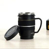 400มิลลิลิตรขวดน้ำสแตนเลสSLRกล้องEF 100มิลลิเมตรแก้วเครื่องดื่มกาแฟ