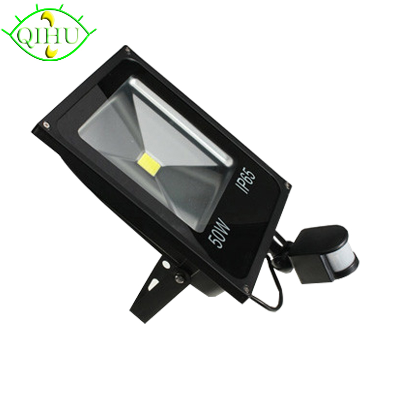 LED Flood Lights PIR  Infrared  Floodlight Outdoor Lamp with Motion Detective Sensor Spot 110V 220V Waterproof Garden Lighting