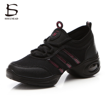 modern dance sneakers for women ladies soft bottom square heel jazz dancing boots middle heels 4cm autumn winter fitness shoes Hot Sale Women Dance Shoes Jazz Hip Hop Shoes Salsa Sneakers For Woman Modern Platform Dancing Ladies Shoes Footwear For Women