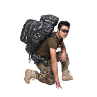 Tigers Camouflage Big Rucksack Outdoors Backpack Tactical Removable Field Bunny Bag Outdoor Mountaineering Bag A4361