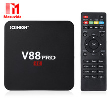 Mesuvida SCISHION V88 PRO Amlogic S905X Set-top Box Quad Core 4 K H.265 2.4G WiFi 1 GB 8 GB Smart Media Player Tv Box Set top Box