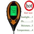 4 in1 PH Измеритель влажности почвы  почвы измерительный прибор  Измерители кислотности сад/посадки парниковых овощей почвы тестер soil ph meter ...