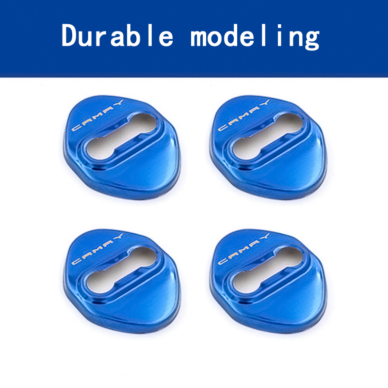 Image 3 - BACKAR 4pcs Car Styling Stainless Steel Interior Stickers For Toyota Camry XV70 2017 2018 Door Lock Cover Lockstitch Accessories-in Car Stickers from Automobiles & Motorcycles