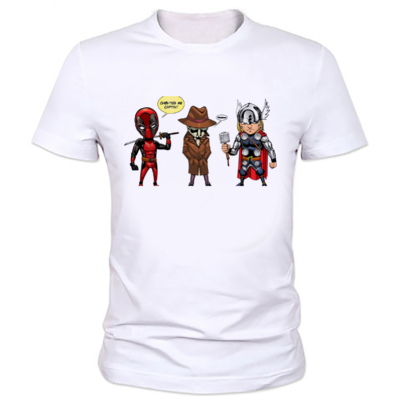 Super hero Deadpool Thor personalized T-shirt printing summer men's casual clothing boy's T-shirt factory outlets W-165#
