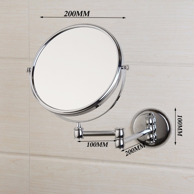"""KEMAIDI 3X Magnifying Beauty Makeup Mirror 8"""" Wall Mounted Bathroom Toilet Cosmetic Mirror Foldable Double Sided Mirror Design"""