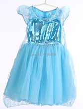 New style Frozen girls dress Elsa & Anna for girl princess dresses party costume