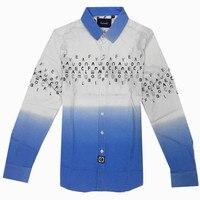 Faconnable Luxury High Quality Elasticity Cotton 2017 New Men Shirts Brand Long Sleeve Print Men Dress