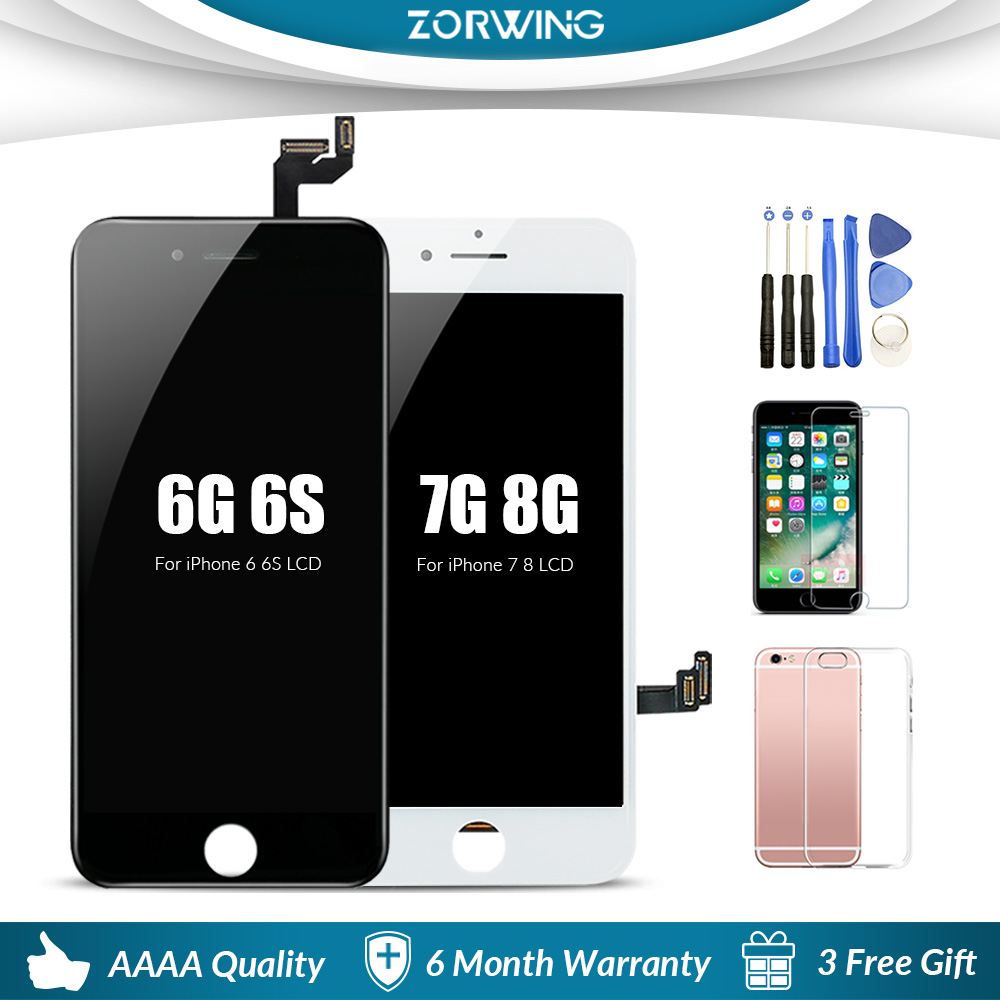 Grade AAA <font><b>LCD</b></font> Display For <font><b>iPhone</b></font> 6 6S 5s <font><b>LCD</b></font> Digitizer Touch Screen Replacement For <font><b>iPhone</b></font> 6 S 7 <font><b>8</b></font> <font><b>LCD</b></font> Screen <font><b>Ecran</b></font> Pantalla image