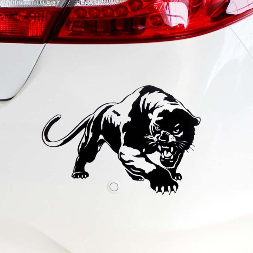 Car Styling Sticker 20*13cm Fiery Wild Panther Hunting Body Decal Car Stickers Motorcycle Decorations Vinyl Decals Stickers  #07