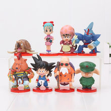 8pcs/set Dragonball Childhood Son Goku Bulma Chichi Master Roshi DWC vol.1 PVC Action Figure Collection Model Toy(China)