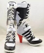 772908d2ef3cf0 Batman Harley Quinn do Esquadrão Suicida Botas Filme Cosplay Sapatos de Salto  Alto Feitos Sob Encomenda Para Mulheres Adultas Tr..