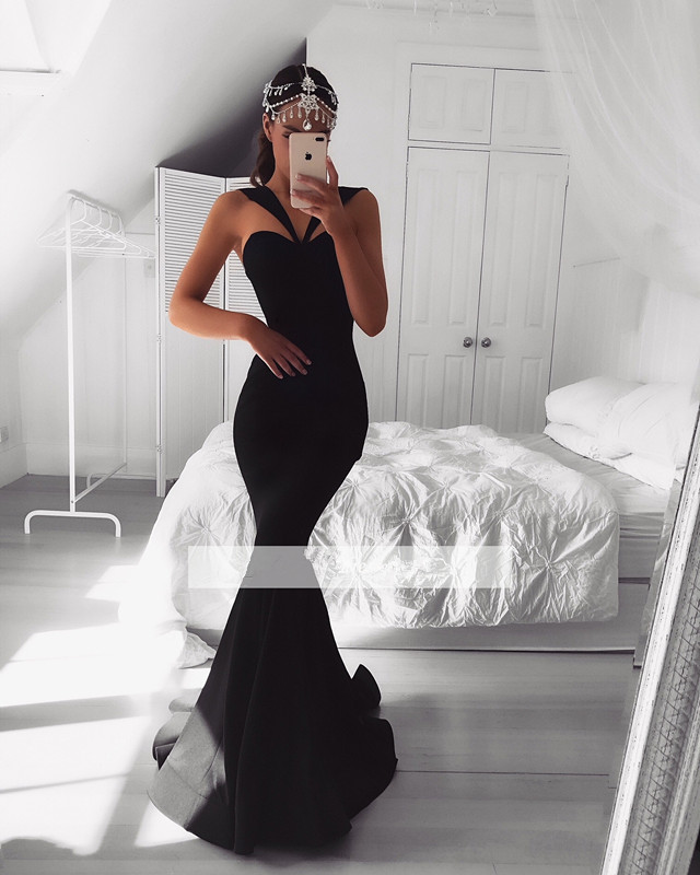 Black 2019   Prom     Dresses   Mermaid Sweetheart Plus Size Long Women   Prom   Gown Evening   Dresses   Evening Gown Robe De Soiree