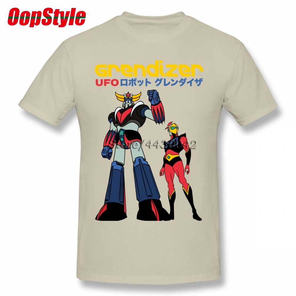 UFO Robot Grendizer Mazinger Z T-shirt For Men Dropshipping Short Sleeve  Cotton Plus Size cf6e65191fa4