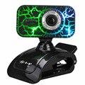 Webcams HD cámara portátil de escritorio micrófono micrófono con coloridas luces de respiración definición visión nocturna Plug and Play