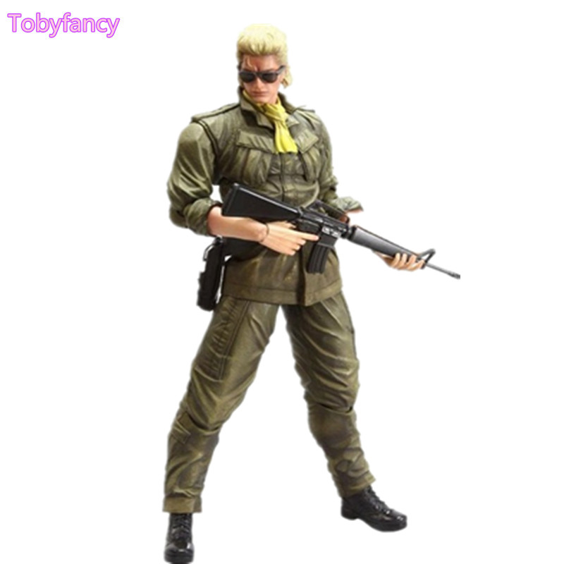 Play Arts Kai Metal Gear Solid Peace Walker Miller PVC Action Figure Toy 260mm Anime Metal Gear Playarts Kai metal gear solid action figure playarts kai the phantom pain quiet venom snake model toy play arts kai snake figure playart pa04