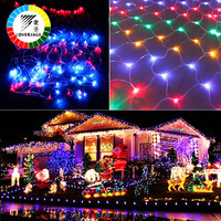 Coversage 2x3M 200Leds Christmas Decorative Xmas Led Guirlande Fairy Strings Curtain Outdoor Holiday Luces Navidad Curtain
