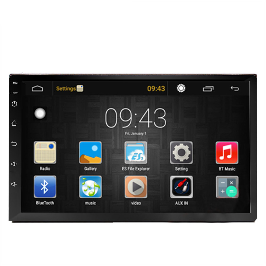 7 pouces autoradio lecteur 2 DIN voiture Android 6.0 GPS Navigation Bluetooth pour Nissan VW Toyota Peugeot Wifi multimédia