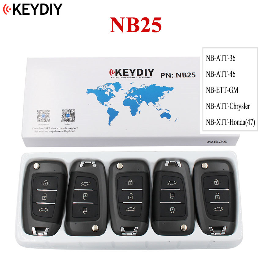 5PCS LOT KD900 URG200 KD X2 Key Master NB25 NB Series Multi functional Remote Control for