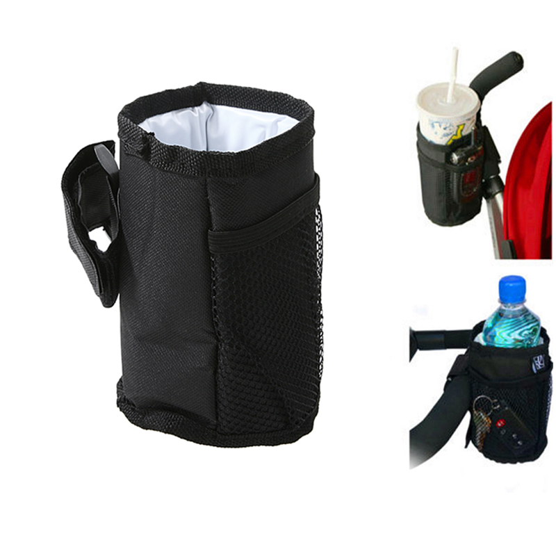 Baby Stroller Bottle Cup Holder Bag Stroller Pushchair Pram Wheelchairs Drink Cup Milk Bottle Mug Holder Bags Stroller Accessory bottle holder universal 360 degree rotation antislip cup drink holder for stroller bike wheelchair 88 s7jn
