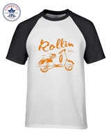 Hot Sale Mix Color Clothes Casual Roller Scooter Motorroller Vespa 50 80 125 Funny T Shirt