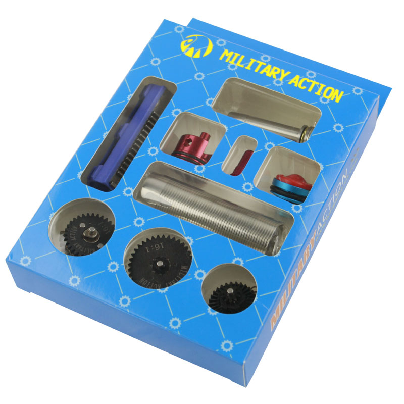 16:1 High Speed Gear Set/Piston/Piston Tête/Cylindre/Cylindre Tête/Printemps Guide/Buse pour M4 AK G36 MP5 Airsoft AEG