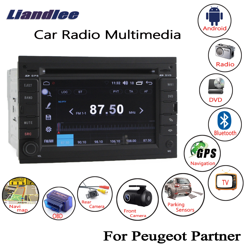 Liandlee For Peugeot Partner 2008 2017 Android Car Radio CD DVD Player GPS Navi Navigation Maps