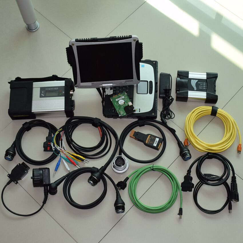 double use diagnostic tool for mb star c5 for bmw icom next with 1tb hdd installed in cf-19 laptop ram 4g ready to work