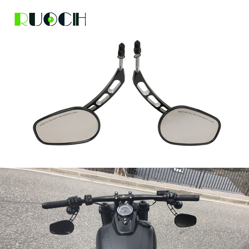 100% Waar Motorcycle Rear View Side Spiegels Voor Harley Road King Touring Xl883 Sportster 1200 Fatboy Road King Glide Scooter Accessoires