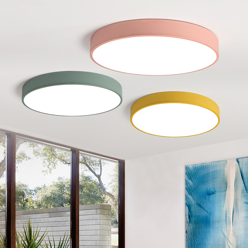 Height 5CM Ceiling Lights Macaron color in round shape Lighting Ceiling Lamp Fixture For Living Room Bedroom corridor Home Decor