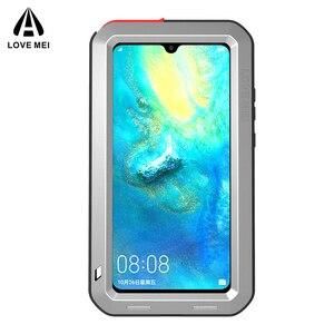 Image 4 - Dla Huawei Mate 20 oryginalny Lovemei aluminium Metal + szkło gorilla Shock Drop wodoodporna obudowa dla HUAWEI Mate 20 pro/Mate 8 9