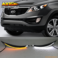 For 2011-2016 Kia Sportage LED Eyebrow DRL Headlight Turn Signal