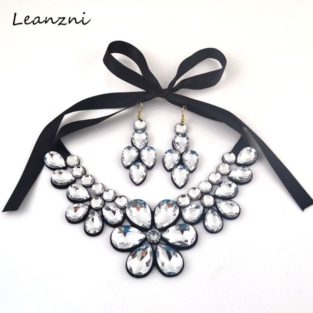 Leanzni  Water droplets resin fashionable dress collocation suits necklace joker woman gift necklace
