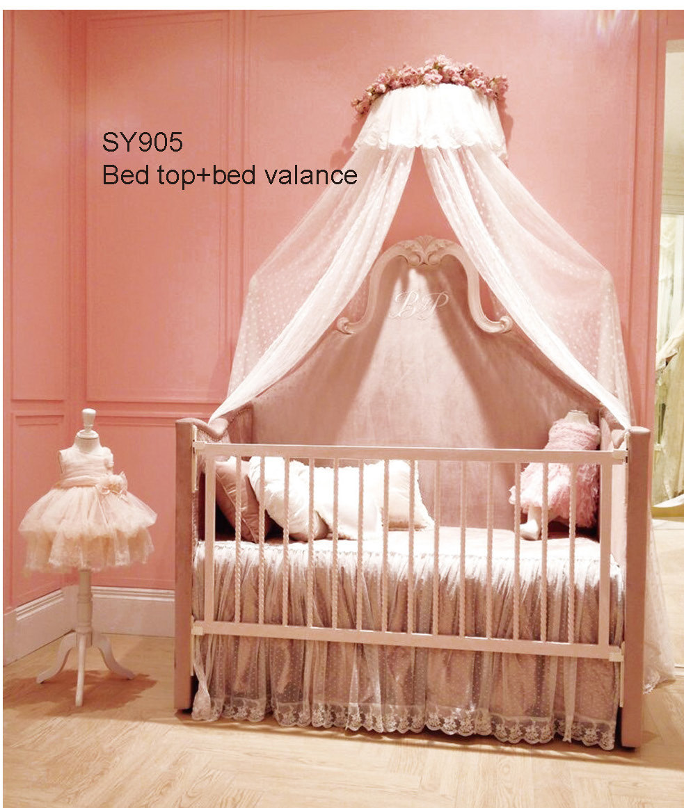 Baby bed online shopping - European Solid Wood Pink Crib German Beech Refined Baby Cot Princess Bedroom China Mainland