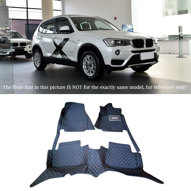 For BMW X3 F25 2015 2016 Interior Leather Carpet Floor Mat Car Foot Mat 1set Car Styling accessories! colts car floor mat set of 2 nfl