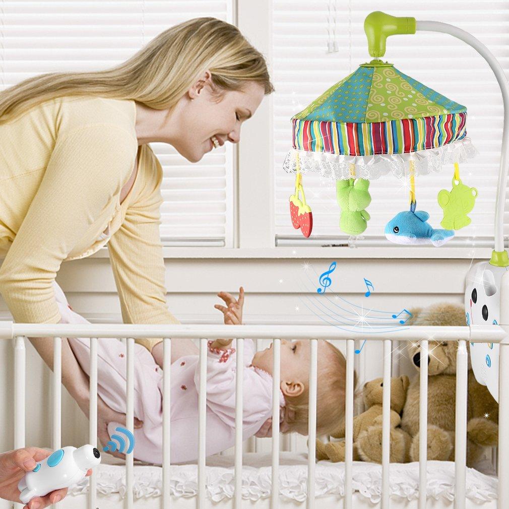 LESHP Проецирование кроватки музыкальный мобильный ребенок мальчик и девочка постельные принадлежности погремушка игрушка музыкальная кров... - 2