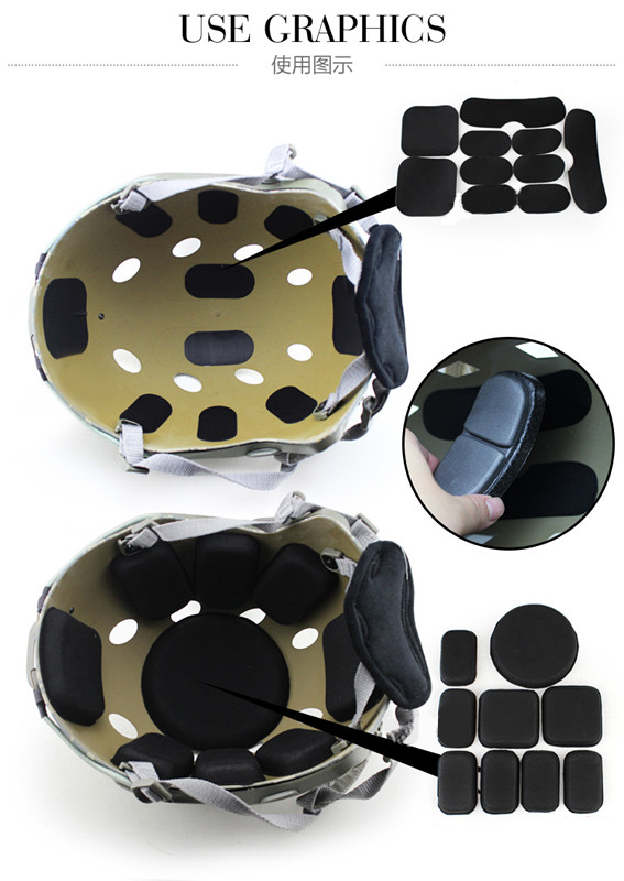 Tactical Protective Pad Cushion Memory Foam for Airsoft Tactical Military Helmet