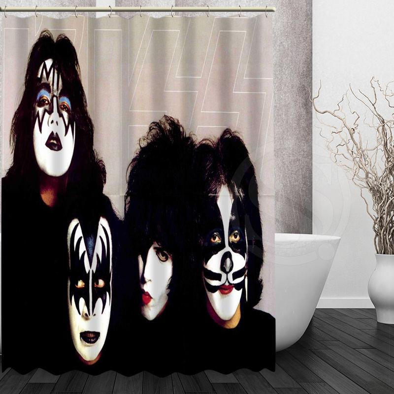 Hot Kiss Band Shower Curtain