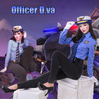 police costume dva costume 2017 new skin officer Dva cosplay d.va police costume police uniform full set adult costume