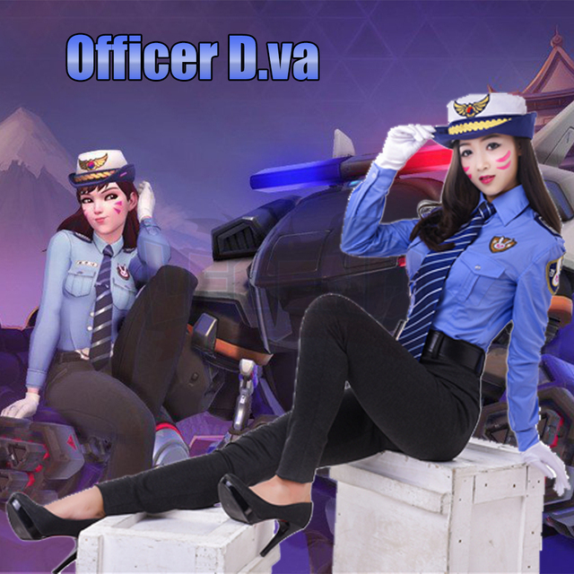 police costume dva costume 2017 new skin officer Dva cosplay d.va police costume police uniform full set adult costume